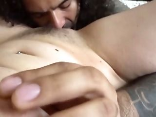 real amateur pussy lick and cum on belly
