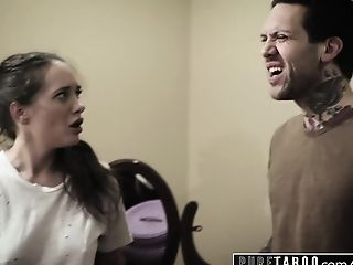 PURE TABOO Gia Paige's FIRST DP With 2 Step-Brothers