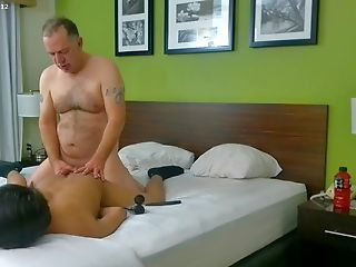 Trucker daddy suck and fuss his Twink bf part 1