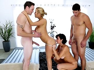 Bobcat, Cute, Foursome, Gorgeous, Group Sex, Hardcore, Massage, MILF, Pornstar, Riding,