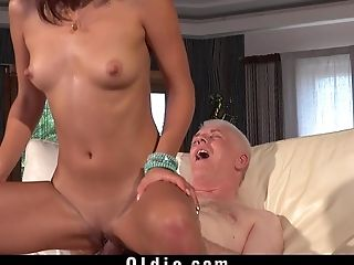 Couple, Dick, Hardcore, Long Hair, Old, Russian, Teen Pussy, Young,