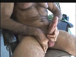 Wanking Big Cut Cock And Cum