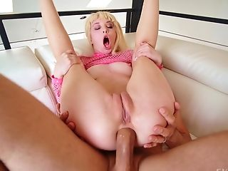 Excellent nude sex on the couch for this slim amateur honey