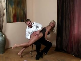 Nasty girl Helena Sweet enjoys getting her round ass spanked