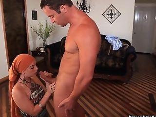Horny Arab chick Dani Jensen fucks her man!