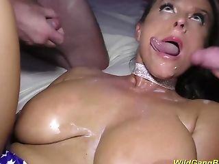 Big boob pornstar Milf Sexy Susi in a wild gangbang