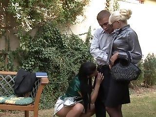 Crazy pornstar in horny outdoor, facial porn video
