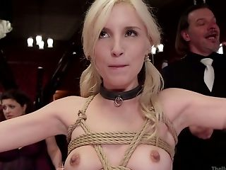 Petite blond hooker Casey Calvert is fucked and punished in public