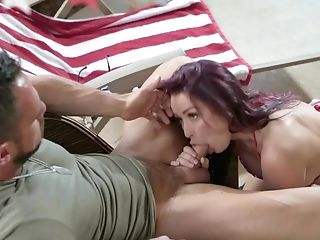 Tight babe gets creampied after a severe fuck