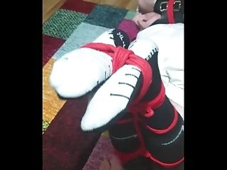 Bound and gagged footballer 4