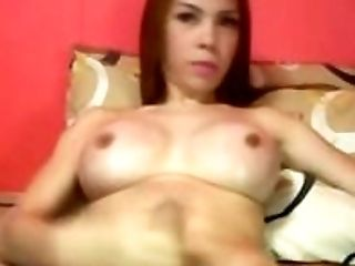 Asian Shemale with Perfect Round Tits and Hard Cock