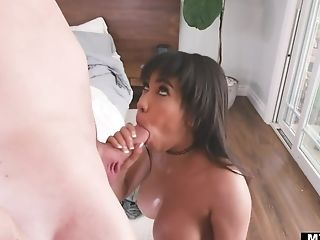 Fucking awesome Latin babe Gia Milana takes cumshots on boobs after sex