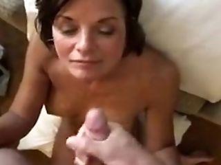 Granny getting my cum on her...