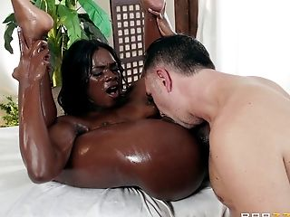 Seems like this chocolate goddess really wants that big white cock!