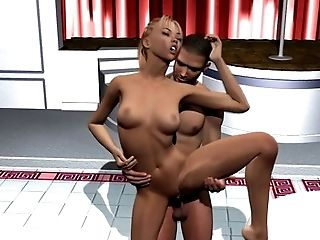 3d, Babe, Blonde, Bold, Caucasian, Couple, Ethnic, HD,