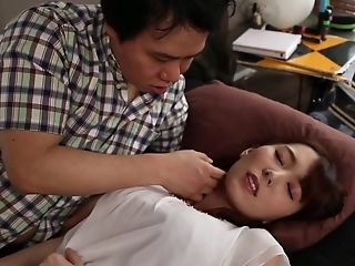 Lusty maid Yui Hatano fucking her master in several rooms in the house