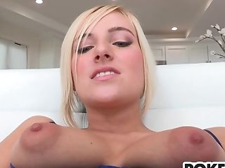 Blonde cutie Kate England gets big dick