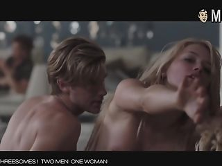 Hot celebs threesome compilation video
