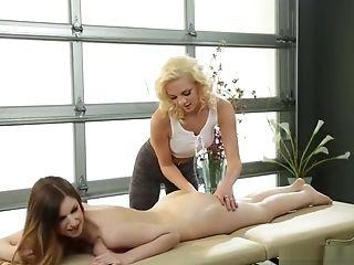 Big Tit Sapphos Tribbing After Massage