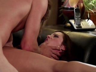 Milf Ariella Ferrera gets ruthlessly fucked in her mouth by Tyler Nixon
